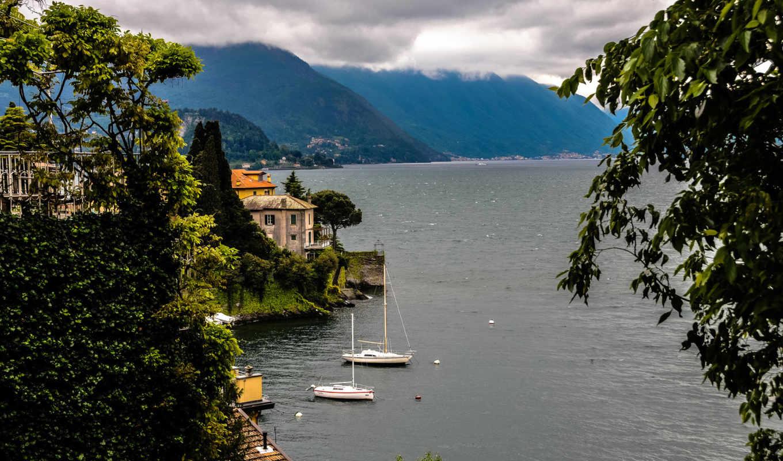 море, италия, горы, пейзаж,