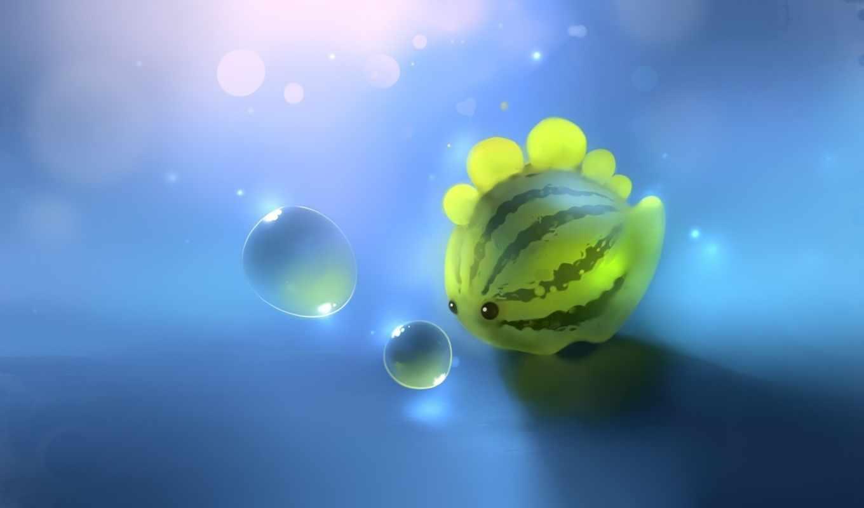 арбуз, пузырьки, динозавр, apofiss, арт, dino, best, pack, картинка,