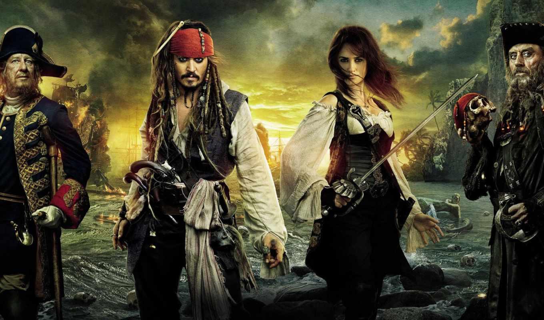 пираты, моря, карибского, jack, воробей, captain, фильма,