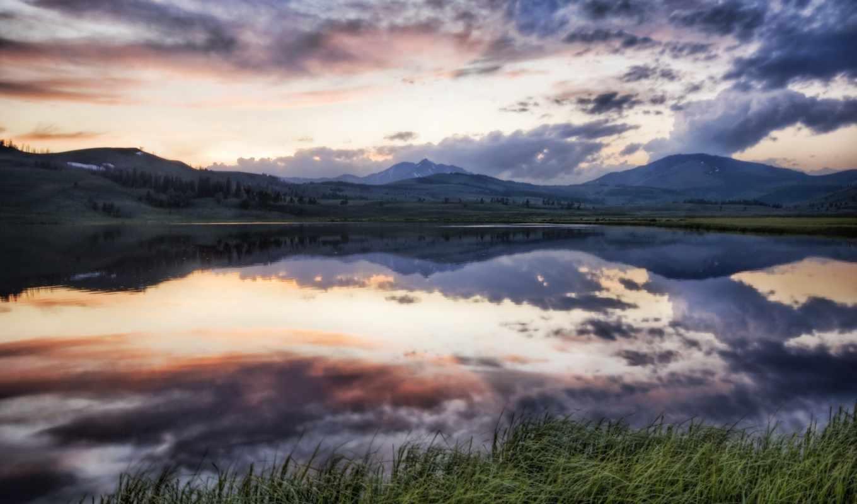 пейзажи -, красивые, water, national, места, природа, park, washington,