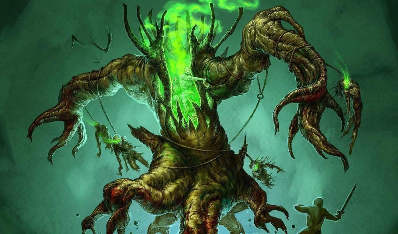 monster, дерево, мертвецы, воин, ent, нежить, fantasy,