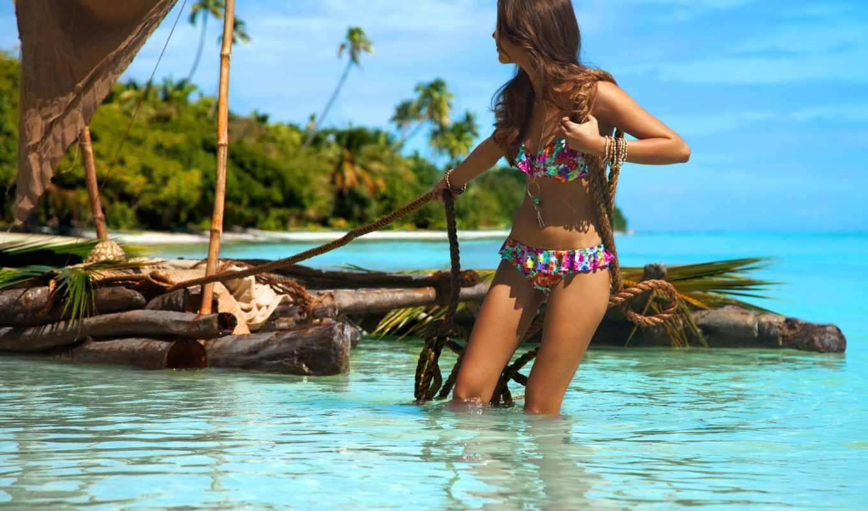 девушка, красивая, красивые, пляж, пляже, ocean, фишки, devushki, море,