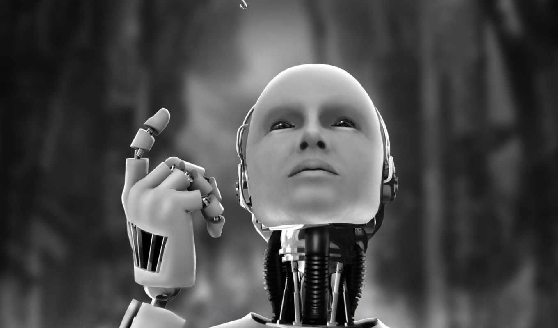 robot, black, white