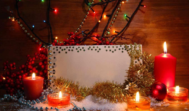 год, new, фоны, свечи, новогодние, праздники, дек, дерево,