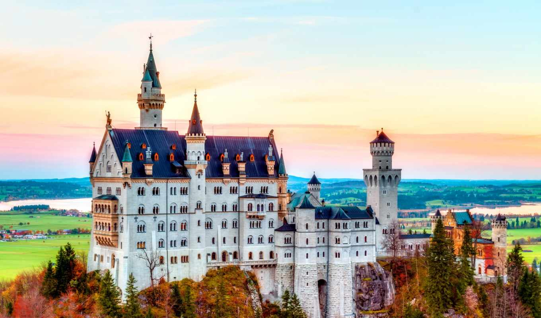 нойшванштайн, альпы, castle, германия, осень,