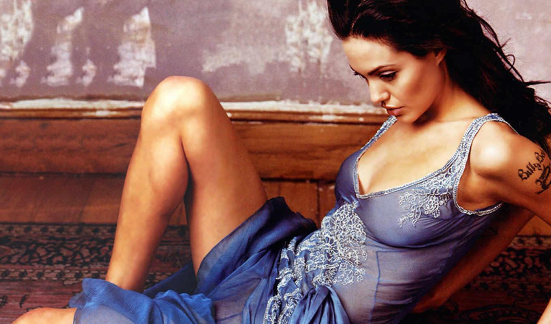 jolie, angelina, звезды, голубое белье,