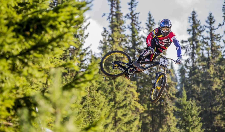 велосипед, прыжок, спорт,