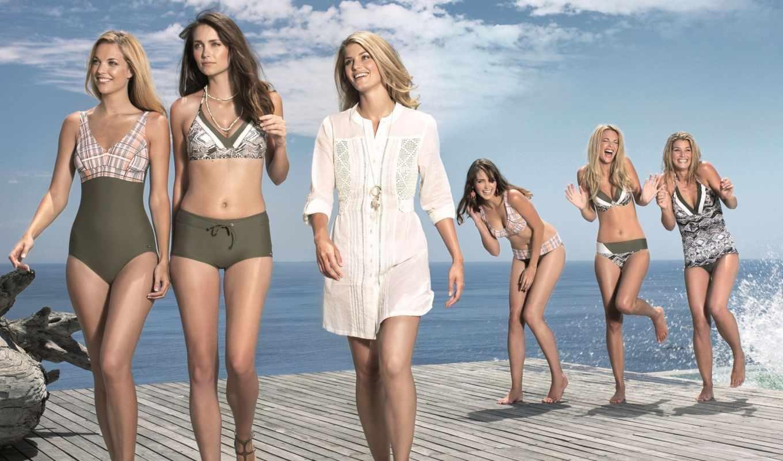 радость, девушки, бассейн, небо, брызги, купальник,