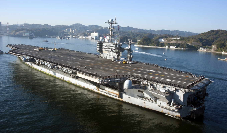 авианосец, самолёт, washington, джордж, uss, оружие, корабли, море,