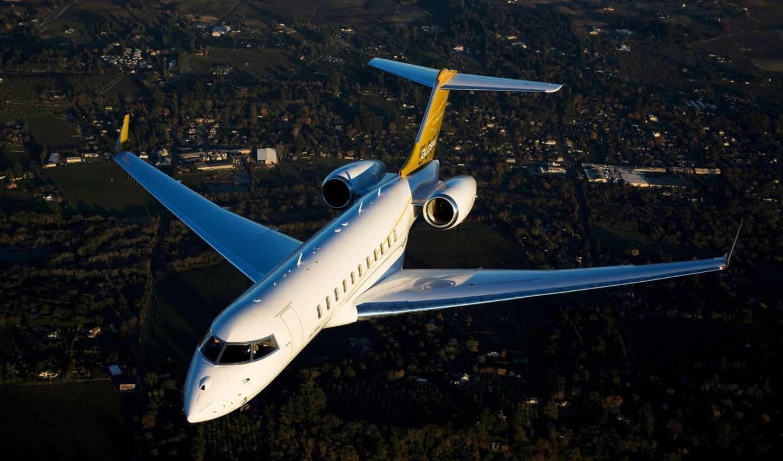 самолёт, авиация, global, rock, со, землёй, card, летит, плакат, print,