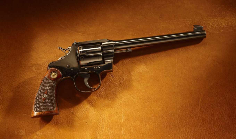 револьвер, кольт, кожа, картинка, верный, старый, кнопкой,