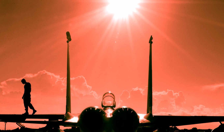 самолеты, самолёт, закат, авиация, аэродром,