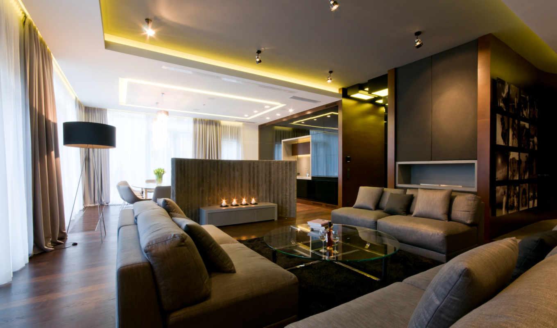 living, спальня, kitchen, casing, интерьер,
