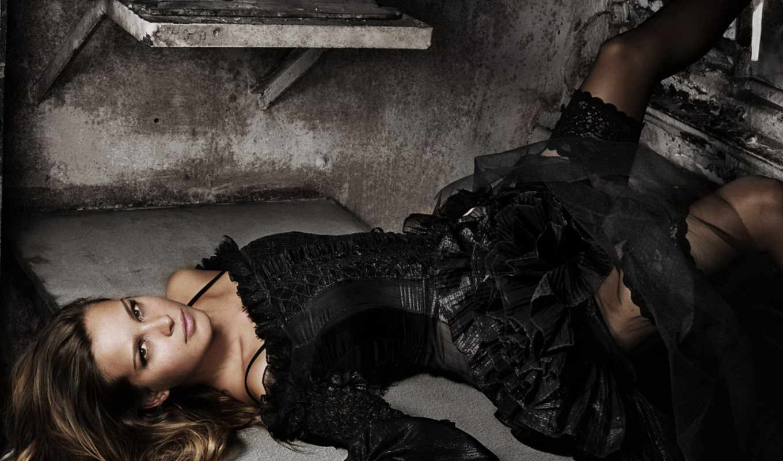 платье, девушка, черном, чёрное, девушки, платья, картинка, лежит,