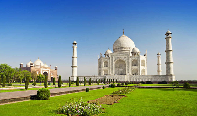 taj, mahal, agra, india, holidays, world, castle, храм,