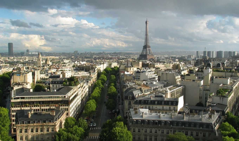 париж, франция, башня, эйфелева, свой, совершенно,
