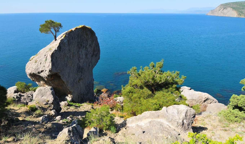 cliffs, landscapes, природа, ocean,