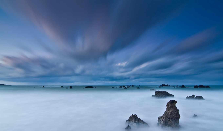 море, скалы, небо, фоны, закат, категории, landscape, windows, всех, тег,