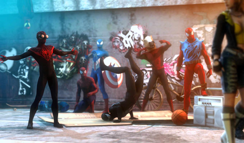 паук, мужчина, scarlet, venom, marvel, symbiote, comics, miles, parker,