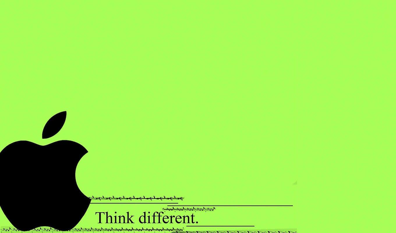apple, logo, зелёный