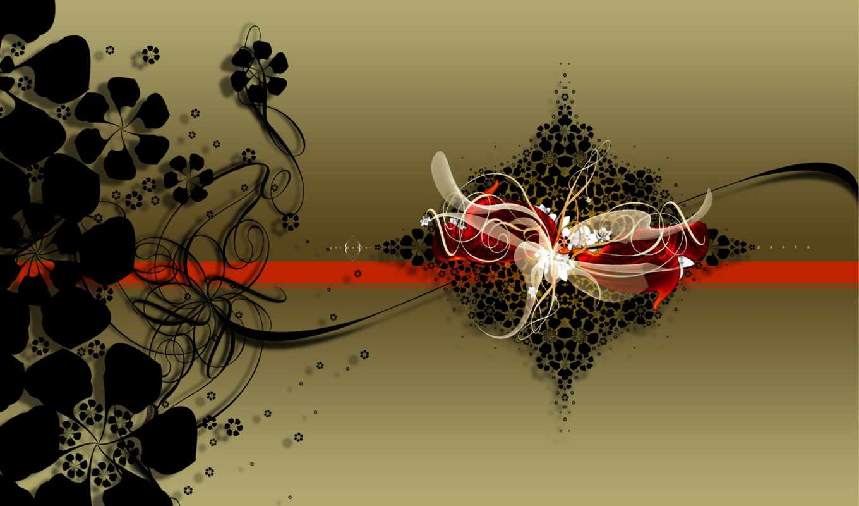 цветы, abstract, japanese, she, sound, монитор, wallspaper, blank