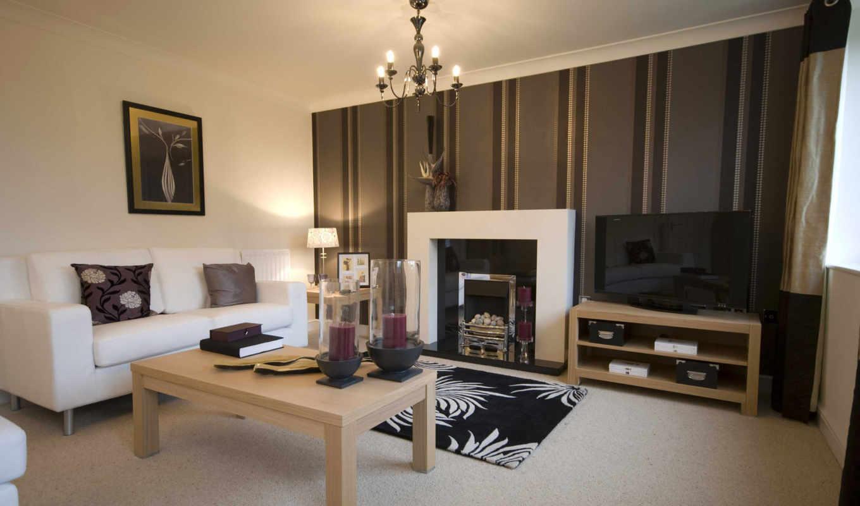 дизайн, интерьер, полосатая, стена, гостинная, камин, picture, подушки, стиль, картинку, комната, диван, ней, мыши, кнопкой, выберите, правой, скачивания, save, dekor, разрешением,