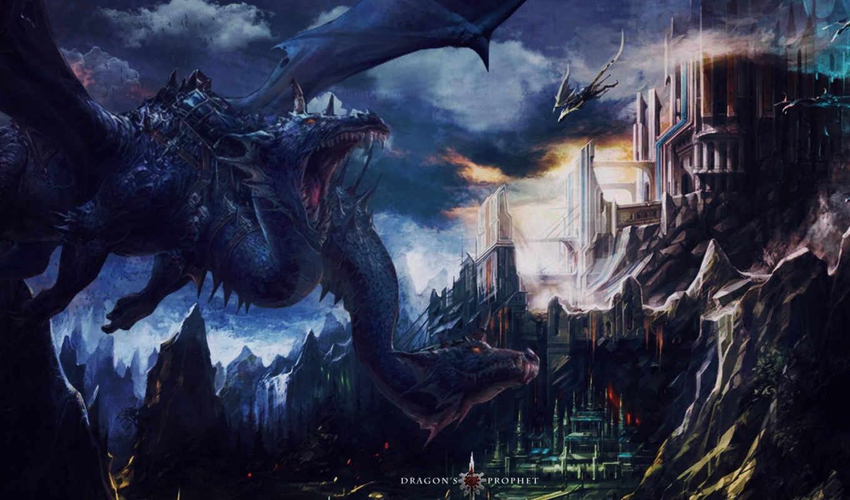 dragons, landscape, дракон, gallery,