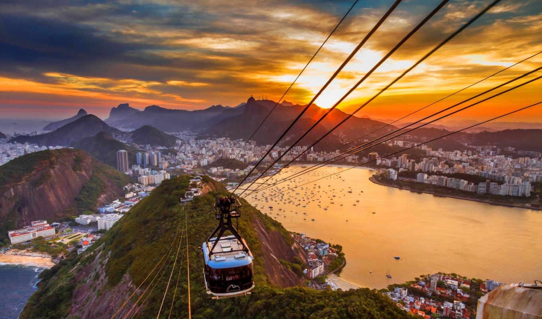 copacabana, пляж, город, rio, janeiro, меч,