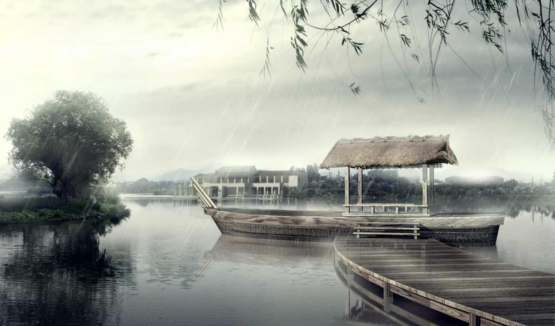 природа, дождь, япония, пасть, free, desktop,