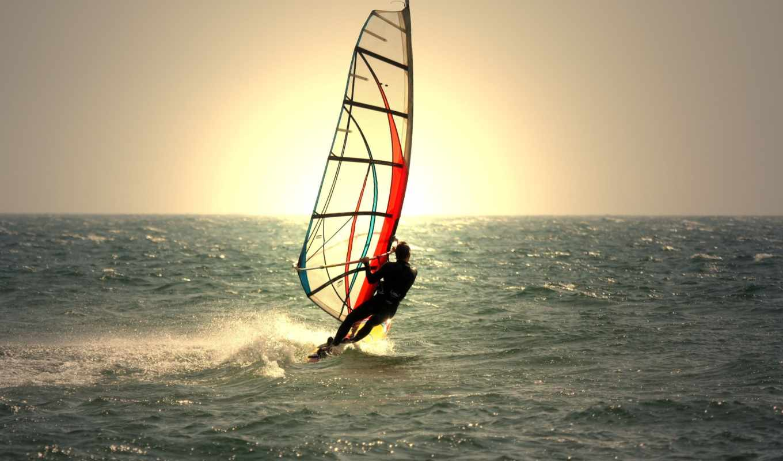 море, мужчина, парень, спорт, water, sun, waves, доска, сёрфинг,