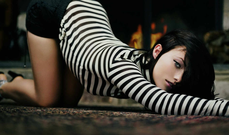 девушка, devushki, прогнула, спину, актриса, горячая, zebra, красивые, чёрно,