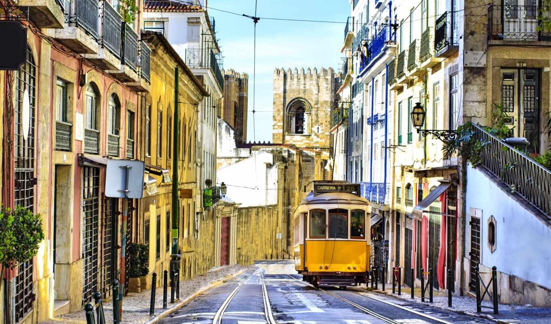 португалия, поезд, mundo, lisbon, фотообои, отдых, one, интернет