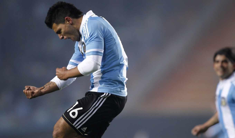 aguero, футбол, argentina, kun, copa, amerika, картинка,