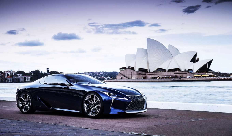 lexus, blue, concept,
