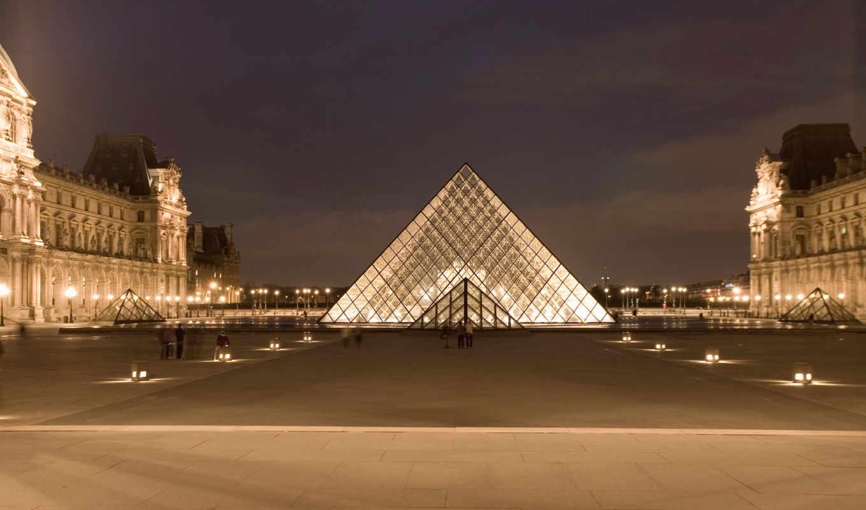 париж, города, share, louvre, архитектуры, пирамида, парижа, создать, architecture, музея,