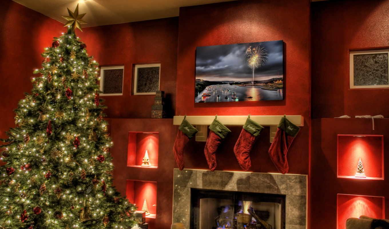 ялинка, подарунки, новий, рік, рождество, year, новый, носки, камин, елка, украшения, дома, рождественские, merry, праздники, подарки, бесплатные,