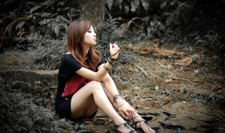 девушки, девушка, азиатка, истинном, азиатки, обою, смотреть, китаянка, взгляд, страница,