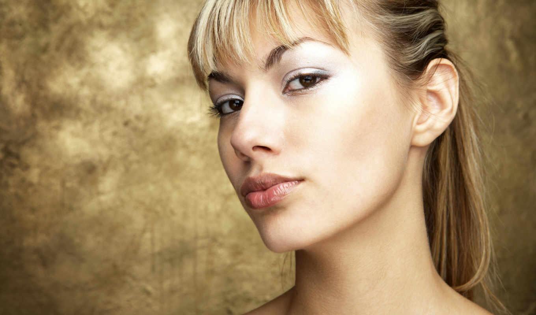 смотреть, губы, лицо, симпатичная, blonde,