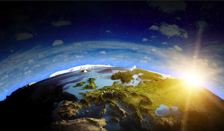 land, sun, cosmos, небо, космоса, европа,