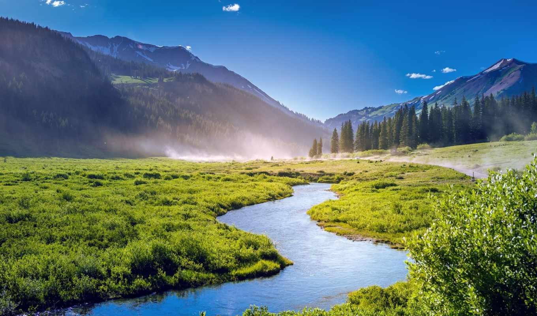 зелёный, landscape, colorado, mountains, scenery, cerros, природа,