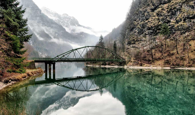 мосты, заставки, ozero, дек, фотографий, италия, горы,