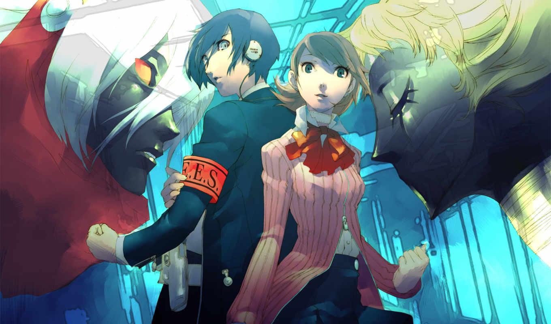 persona, anime, trinity, soul, троицы,