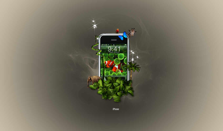 iphone, jungle, apple,
