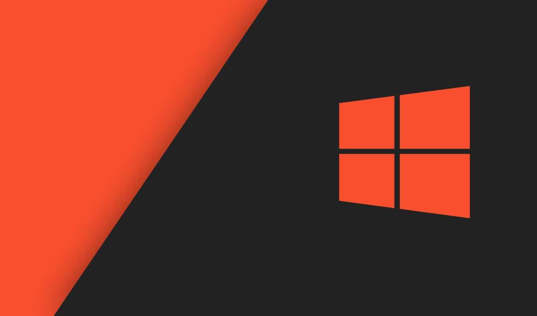 окно, logo, компьютер, free, оранжевый, microsoft