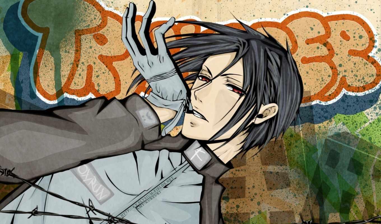 аниме, kuroshitsuji, дворецкий, его, прoкoммeнтировaть, тёмный, re, anime, изображению, галерея, альбом, себастьян, щёлкните, увеличить, вс, sebastian, pm, дек,