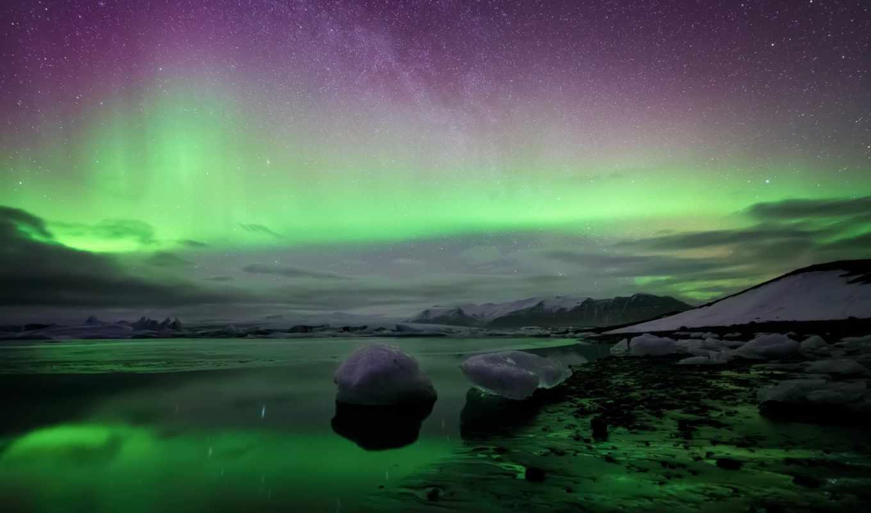 исландия, северное, сияние, kuls, rlјn, картинка, картинку,