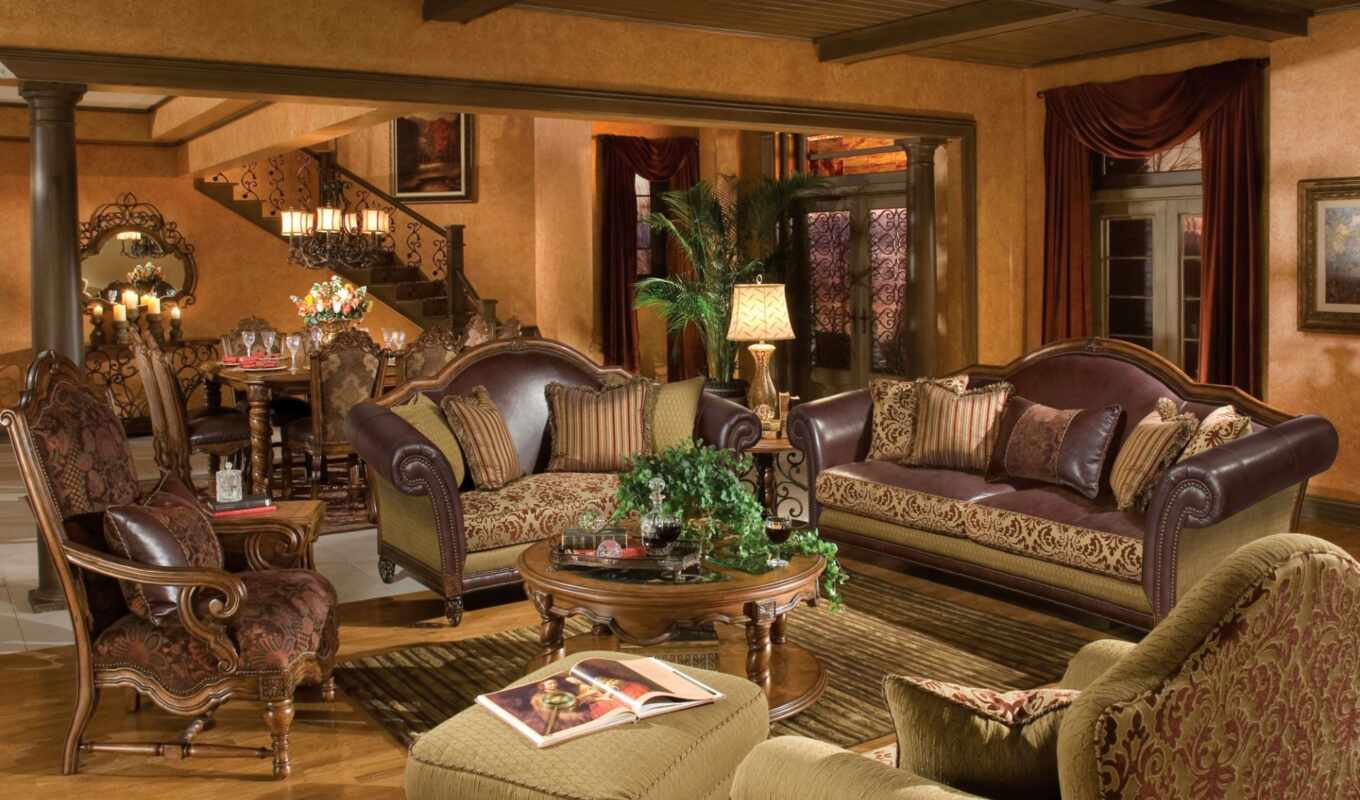 furniture, discount, room, aico, living, dining, tuscan,