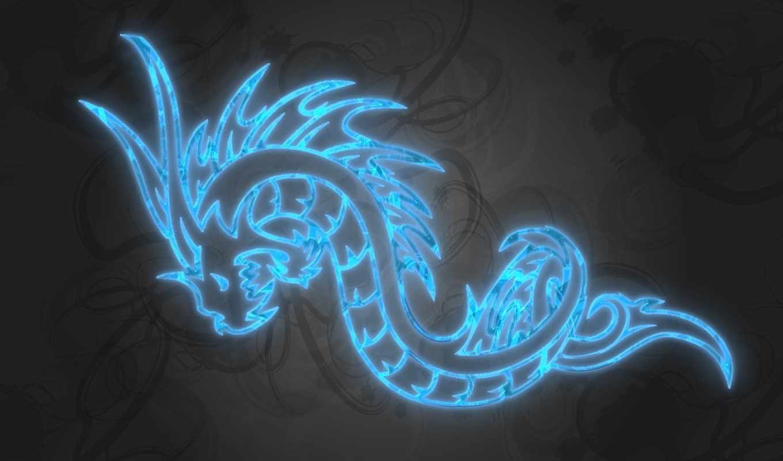 дракон, свой, blue, совершенно, wpapers,