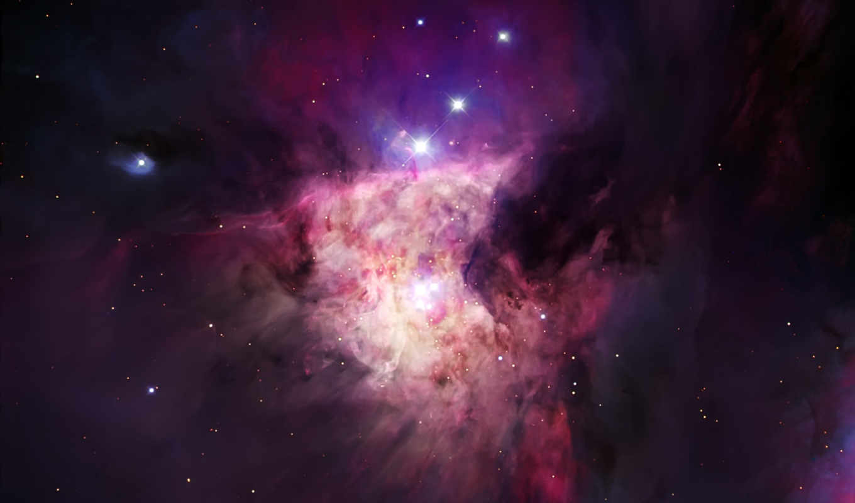 космос, красивая, фиолетовая, туманность, hubble, star, outer,