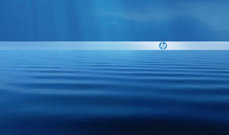 ,hp, logo, water, blue